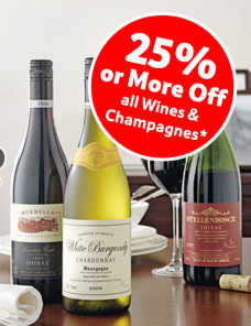 25% Off Wines this winter